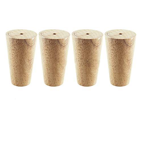 SHOP YJX 4 piezas madera de roble 300x48x30mm altura confiable inclinado muebles pierna con placa de hierro sofá mesa armario pies con juntas