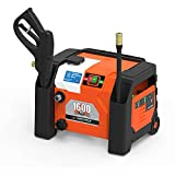 YARD FORCE YF1600A1 1600 Psi Compact Electric Pressure Washer, 1.2 GPM, Built-in Storage, One Size,...
