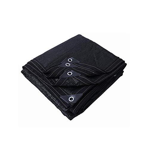 Dongyd Pare-Soleil Filet de Protection Solaire Épaississement Cryptage Ombre Filet Balcon Jardin Toit Remise Isolation Filet Noir (Taille : 3 * 4m)