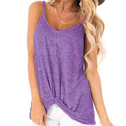 Sexy Camisole Summer Damen äRmelloses Knick-T-Shirt