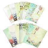 LAMEK Carta da Lettere e Buste in Stile Cinese, 35 Pezzi di Carta da Lettere + 21 Fogli di...
