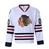 Clark Griswold Jersey #00 X-Mas Christmas Vacation Movie Sports Shirt Ice Hockey Jerseys (White, XXX-Large)