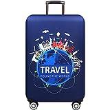 """グリーンリップルブランド旅行厚く弾性深い熱帯雨林の色の荷物保護カバー、18 32""""に適用するスーツケースケースxt910 A、L"""