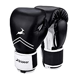TRIDEER PRO GRADE BOXING GLOVES.