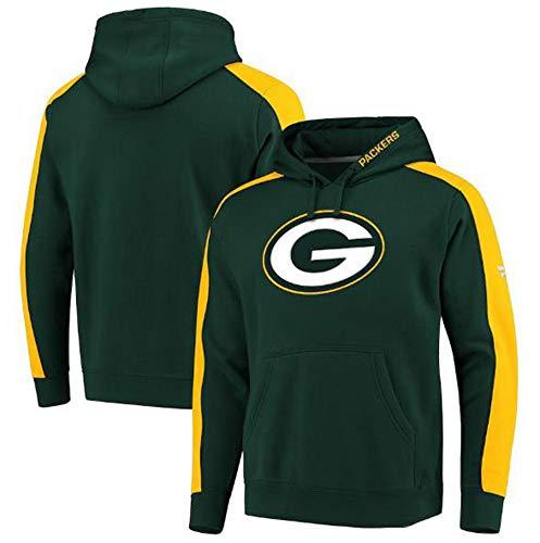 LLforever NFL Jerseyhoodie Green Bay Packers, Fußball Kleidung T-Shirt Gedruckt Mit Kapuze Spitze Beiläufige Bequeme Sweatshirt,XL:180cm/85~95kg
