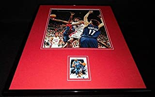 Ben Wallace Autographed Photo - Framed 16x20 Display - Autographed NBA Photos