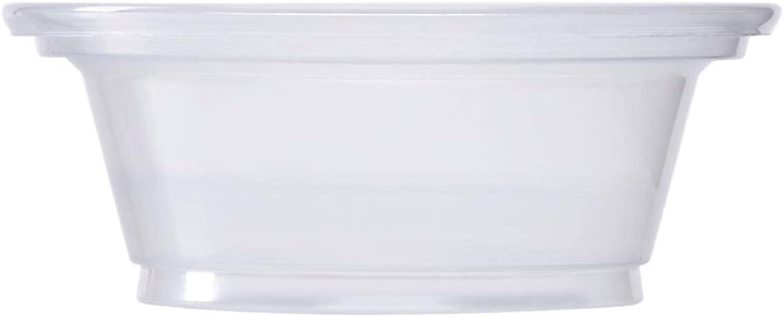 250 Disposable 1 oz. Japan's largest assortment Plastic Portion Condiment Cups Cu Lids Max 81% OFF No