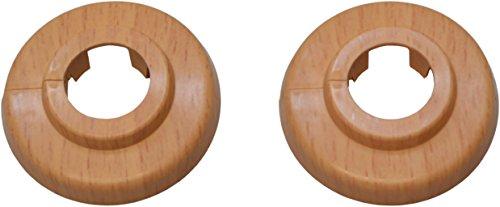 sanicomfort 1845845 Klapprosette Eiche 18 mm, 2 Stück