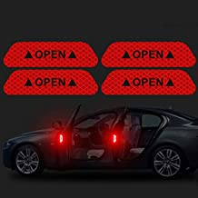 e-INFINITY 2019 Newly Car Reflective Strips Sticker Warning Tape Night Open Door Sign Decal Anti-Collision Mark N66 (RED)