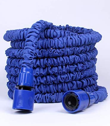 BBTWO Manguera de Jardín Extensible, 75FT 22.5M Manguera Jardin Flexible Manguera de Jardín con 8 Funciones Jardín de Rociado para Lavado de Autos, Jardinería, Riego (Azul)