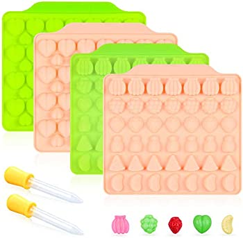 4-Pack Funbaky Candy Molds Silicone Gummy Molds