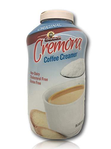 Bordens Original Cremora Coffee Creamer - Non Dairy Creamer Powder - Gluten Free - Cholesterol Free - 35.3 oz (Pack of 1) - Includes 200 Coffee Stirrers By Bundle Bop