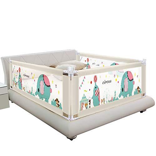 QIANDA-Bettgitter Bettschutzgitter Extra Hohes Babybett Verstellbare Höhe Für Kleinkinder Vertikales Anheben Safety Kids Leitplanke Für Kingsize-Bett, 3 Seiten (Farbe : D, größe : 2m+1.5m+2m)