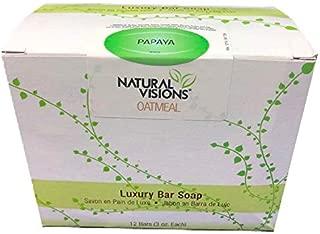 Natural Visions Luxury Bar Soap Oatmeal Papaya Fragance