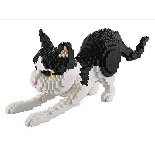 Glint Store Katzenfigur. Bausatz zum Zusammenbauen mit winzigen Bausteinen. Hockende Katze, 1390 Blöcke.