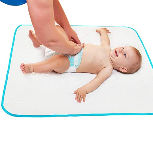 """Portable Changing Pad for Home & Travel – Waterproof Reusable Extra Large Size 31.5""""x25.5'' Baby Changing Mat with Reinforced Double Seams - Change Diaper On The Go - Unisex Boys&Girls"""