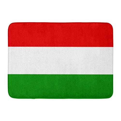 LnimioAOX Badematte Ungarische Flagge von Ungarn Budapest Magyarorsz und aacute; g World Hungaria Badezimmerdekor Teppich