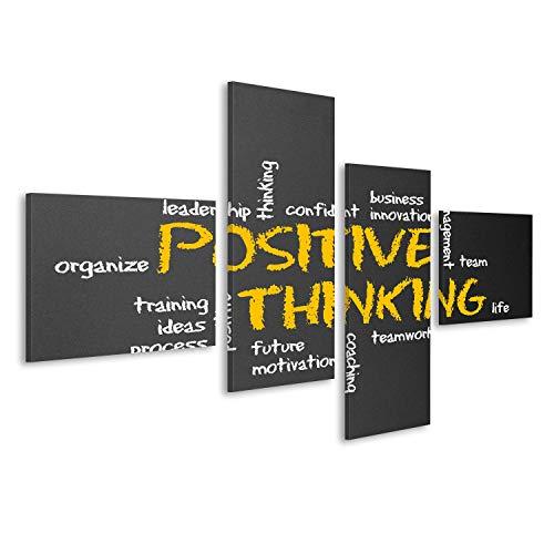 islandburner Bild Bilder auf Leinwand Positives Denken Motivation Illustration Wandbild Leinwandbild Poster