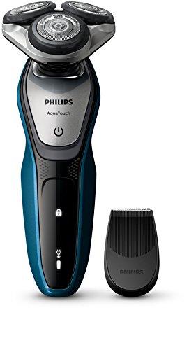 Philips AquaTouch S5420/04 - Afeitadora (Máquina de afeitar de rotación, SH50, 2 año(s), Azul, Gris, AC/Batería, Ión de litio)