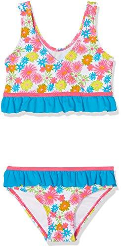 Playshoes Mädchen UV-Schutz Bikini Blumenmeer Zweiteiler, Mehrfarbig (Pink 18), 98 (Herstellergröße: 98/104)