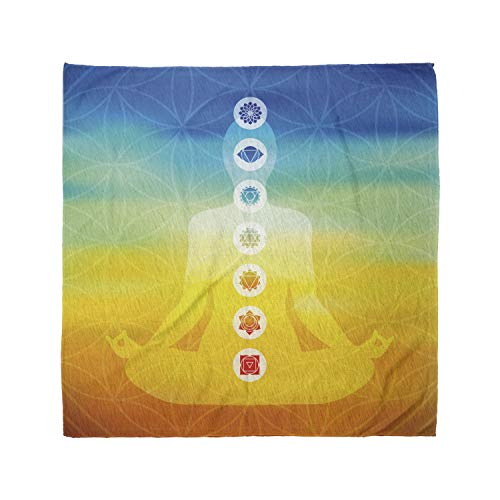 Ambesonne Unisex Bandana, Yoga Body Silhouette in Lotus, Multicolor, 10 Pack