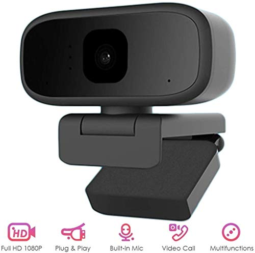 SMLZV Webcam with Microphone,HD 720P Streaming Webcam for PC,Laptop,Plug and Play USB Camera,for Youtube,Skype Video Calling,Studying,Conference,Gaming