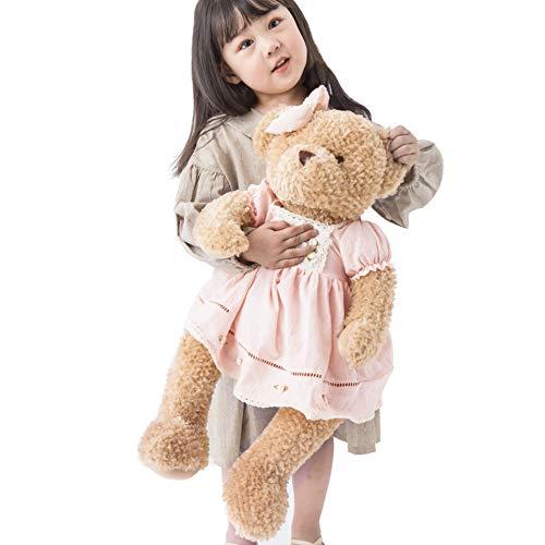 Oitscute Big Baby Teddy Bear with Cloth Cute Stuffed Animal Soft Plush Toy 25' (Pink&Brown)