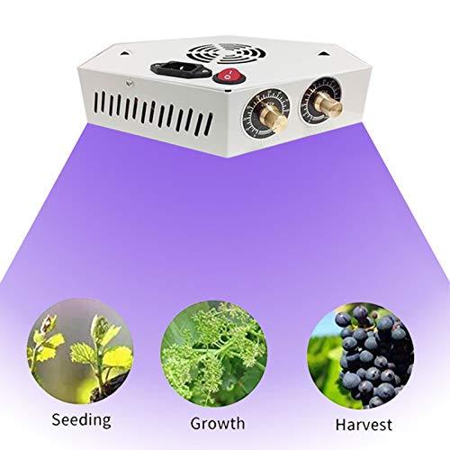 HDHUIXS Planta Crece la luz, LED CRIVER Light WPECTRUM Completo para Plantas Interiores, Lámparas de Cultivo de Plantas para plántulas, 3 Modos de conmutación