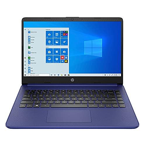 HP Laptop de 14 Pulgadas Intel Celeron N4020 4 GB 64 GB, Intel UHD Graphics 600, Windows 10 Home en Modo S, Cable HDMI GS (Azul)