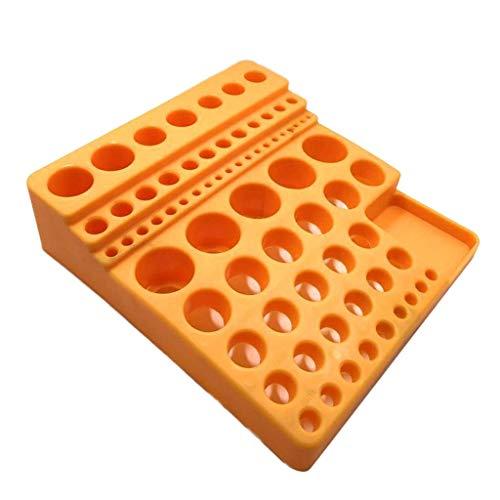 BXU-BG Amarillo plástico del Soporte Caja vacía Taladro Junta Caja de Almacenamiento for 70 Piezas.
