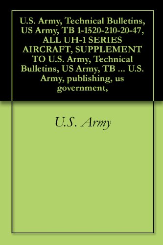 U.S. Army, Technical Bulletins, US Army, TB 1-1520-210-20-47, ALL UH-1 SERIES AIRCRAFT, SUPPLEMENT TO U.S. Army, Technical Bulletins, US Army, TB 1-1520-210-30-01, ... U.S. Army, publishing, us government,