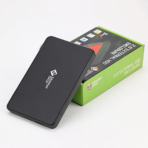 MasterStor pour MAC, MAC Book et Windows noir disque dur Portable USB 3.0 disque dur ultra rapide disque dur externe lecteur portable 1 ans garantie noir (500GB)