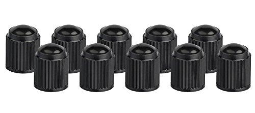 Xunits Ventilkappen Fahrrad – Schraderventil auch AV – Autoventil auch für MTB oder BMX Räder aus Plastik in schwarz – Set aus 10 Ventilen - 3