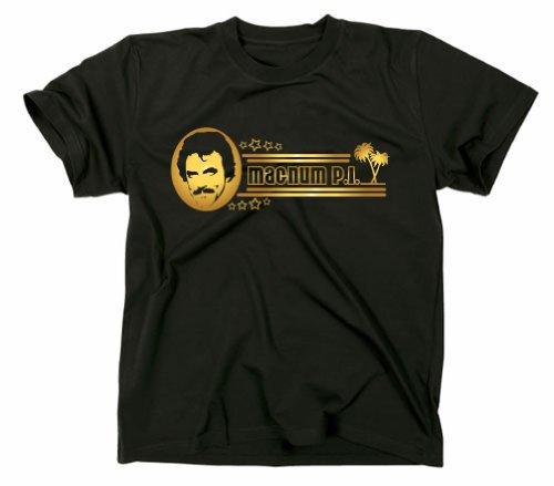 Magnum PI P.I. Kult T-Shirt, TV-Serie 80er Jahre, schwarz, XL