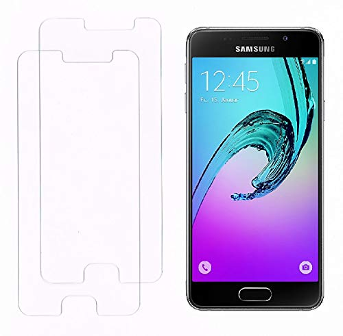 Smartphone-Equipment [2er Pack] Panzerglas für Samsung Galaxy A3 2016 Echt-Hartglas 9H, Glas-Folie Schutzfolie Panzerfolie Display-Schutz