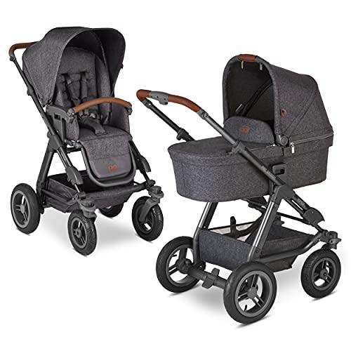 ABC Design Kinderwagen Viper 4 – Kinderwagen für Neugeborene & Babys bis 22 kg – Geländetauglich – Radfederung & Lufträder – höhenverstellbarer Schieber – Farbe: street