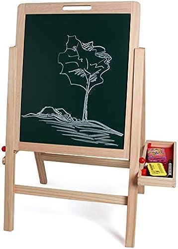 ChenYongPing Kinder-Rei ett Grünikale Kunst der Kinder doppelseitige Staffelei Dry Erase Board schwarzboard Aufbewahrungsbox Kinder Spaß Und Bildung ZWeißitige Tafel