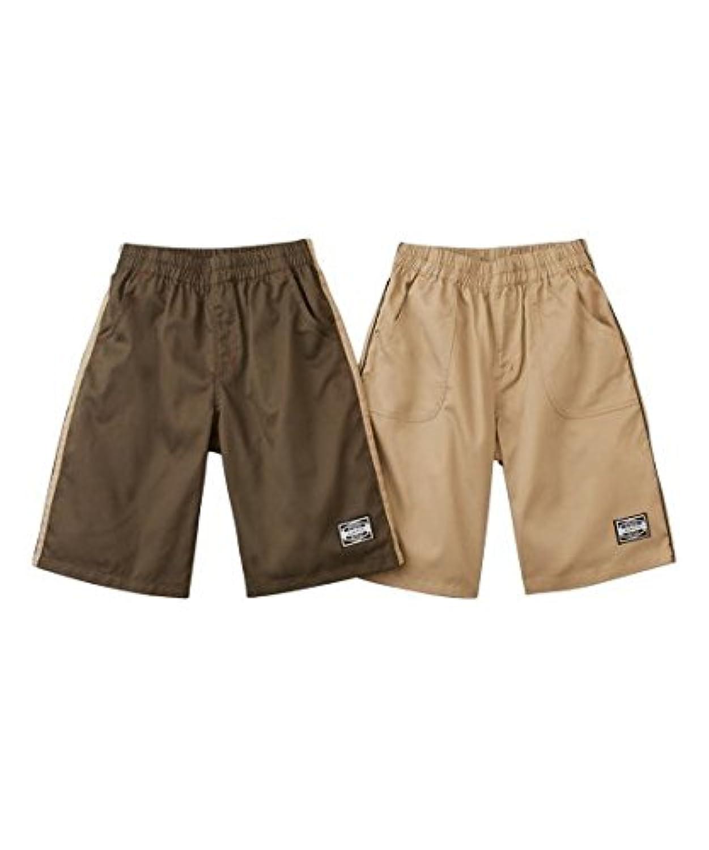 [nissen(ニッセン)] もっとゆったりサイズ 脇ラインハーフ パンツ 2枚組 男の子 子供服 男の子 キッズ セット組