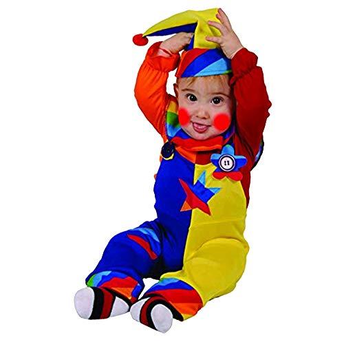 Dress Up America- Disfraz de Payaso de Dulce Belleza, Colorido, Multicolor, Talla 0-6 Meses (Peso: 3,5-7 kg, Altura: 43-61 cm) (586-0-6)