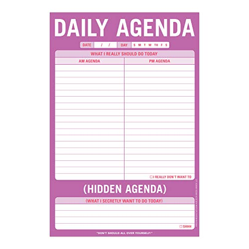 Knock Knock Daily Agenda / Hidden Agenda Pad, To Do List Note Pad, 6 x 9-inches Photo #2