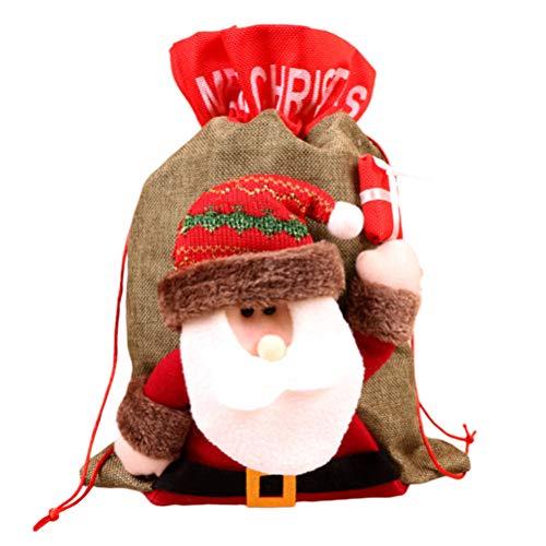 NUOBESTY - Saco de Papá Noel con cordón para guardar regalos de Navidad, regalos de día festivo (tamaño pequeño), A5FRG15A29LM14GU