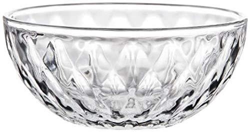 MIAOLIANG Cuencos de Cereales Cuenco de Cristal de Diamante Vajilla para el hogar Plato de Frutas, Cuenco de Cara de Postre, Cuenco de Ensalada pequeño Transparente