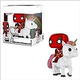 Película Pop Deadpool Deadpool En Unicornio con Caja Figuras PVC Modelo Colección Regalo