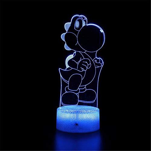 Super Mario C lámpara de ilusión 3D 3D noche luz táctil lámpara de escritorio para dormitorio de los niños, cargador USB bastante fresco regalos para cumpleaños X-mas día de San Valentín