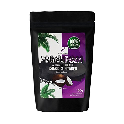 Black Pearl Coconut Activated Charcoal Powder for Teeth Whitening,...