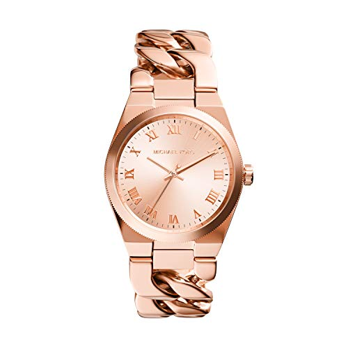 Michael Kors Women's Channing Quartz Watch with Stainless Steel Strap, Pink, 10 (Model: MK4564)