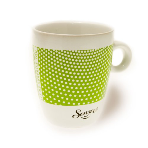 Senseo Limited Edition Tasse, Let us surprise you, Steingut, Becher, Kaffeetasse, Creme Grün 180 ml