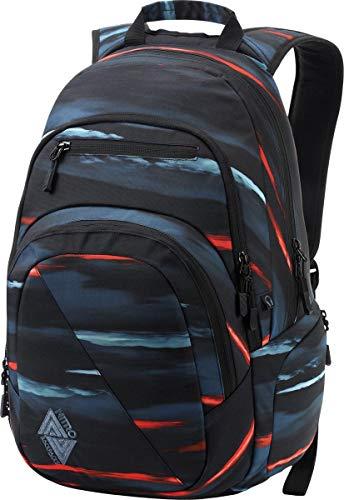 Nitro Stash Rucksack Schulrucksack Schoolbag Daypack Damenrucksack Schultasche schöne Rucksäcke Alltag Fahrradtasche, Acid Dawn, 29L