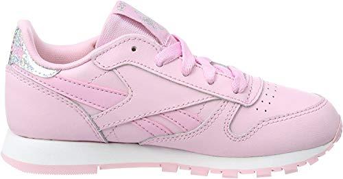 Reebok Mädchen Classic Leather Pastel Sneaker, Pink (Charming Pink/White), 34.5 EU