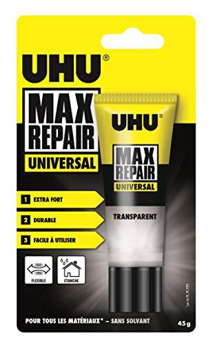 UHU Max Repair Universal Tube, Starker und vielseitiger Universalkleber für nahezu alle Reparaturen im Haushalt, 45 g